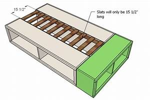 how to build a twin size platform bed with storage Quick