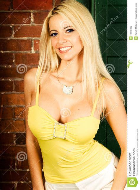 Blonde Woman Fashion Model Stock Image Image Of Blond 12745899