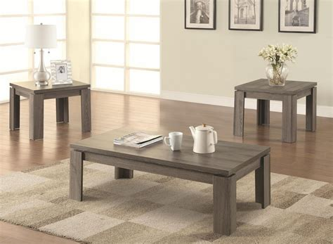 Here's a coffee table boasting light and bright natural wood tones. Dark Wood Coffee Table Set Furnitures | Roy Home Design