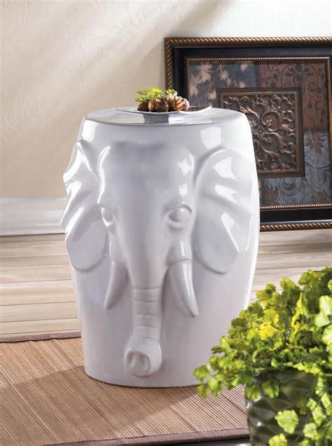 white elephant statue ceramic outdoor furniture garden