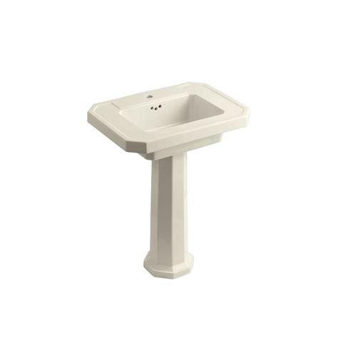 memoirs pedestal sink home depot kohler memoirs pedestal combo bathroom sink in almond k