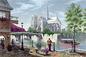 Peinture De Paris Poissy : belles images peintes de paris ~ Premium-room.com Idées de Décoration