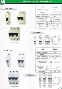 Koten Rail Type Electrical Circuit Breakers Philippines