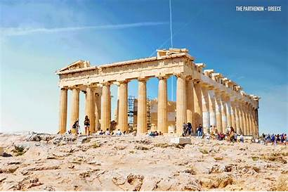 Ancient Ruins Gifs Reconstructed Architectural Greece Parthenon