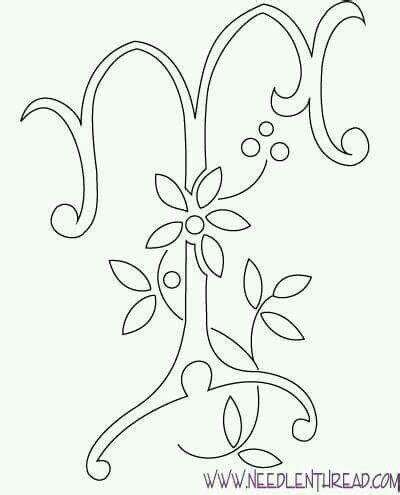 letra t bordado mexicano bordado bordar letras alfabeto bordado