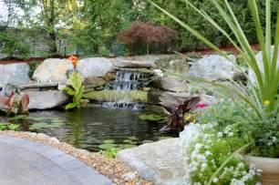 Koi Waterfall Garden Pond
