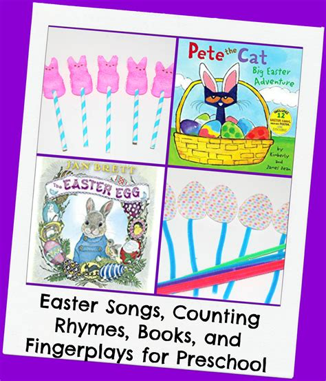 easter songs counting rhymes finger plays and books for 151 | Easter Songs Counting Rhymes Books and Fingerplays for Preschool