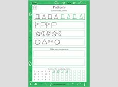Patterns of Shapes and Numbers Worksheet Grade 1