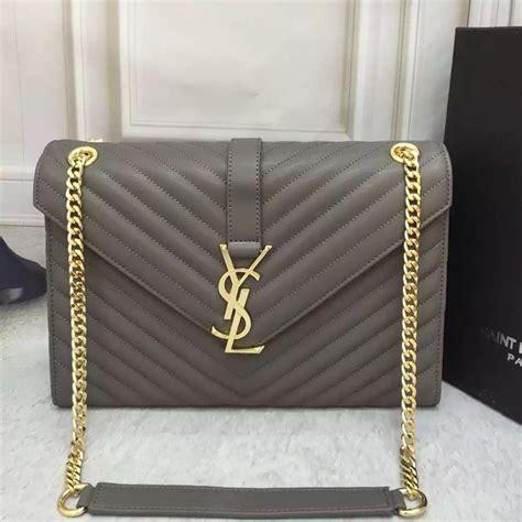 ysl saint laurent classic large monogram bag grey cm ysl   designer
