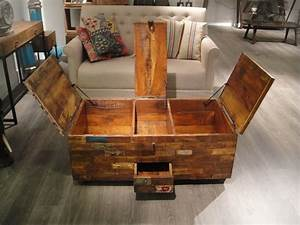 vintage chest coffee table wood coffee table chest home With reclaimed wood coffee table with storage