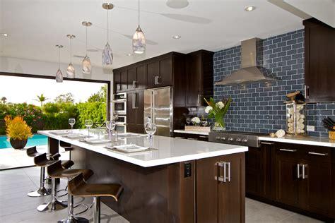 custom contemporary kitchen cabinets alder wood java finish shaker