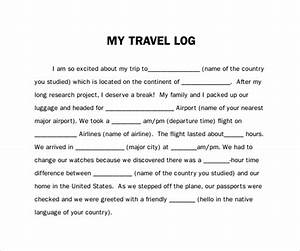 Travel Expenses Form Template Free 9 Sample Travel Log Templates In Pdf