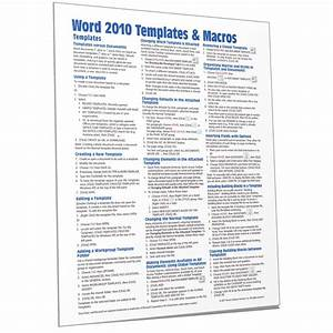 Microsoft Word 2010 Templates Quick Reference Guide Card