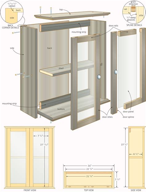 design blueprints for free free woodworking plans bathroom cabinets