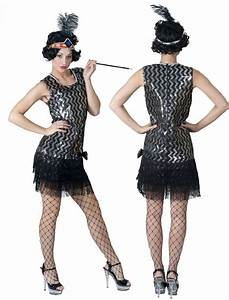 Tenue Des Années 20 : robe charleston argent noir ann es 20 soir e deux ou entre amis dans une ambiance et une ~ Farleysfitness.com Idées de Décoration