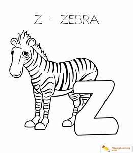 Alphabet Easy Coloring Z Is For Zebra for Kids