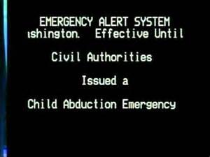 Child Abduction Emergency Alert System