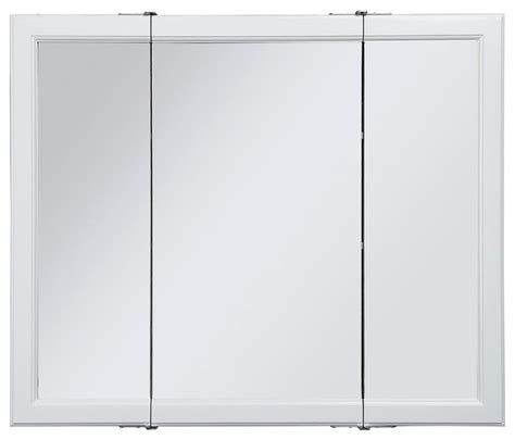 medicine cabinet mirror with three doors contemporary