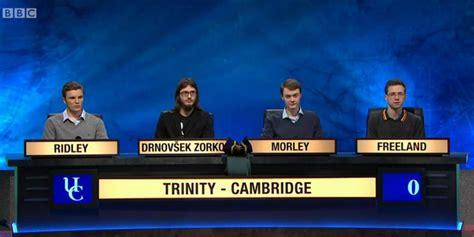 trinity college team wins university challenge alumni