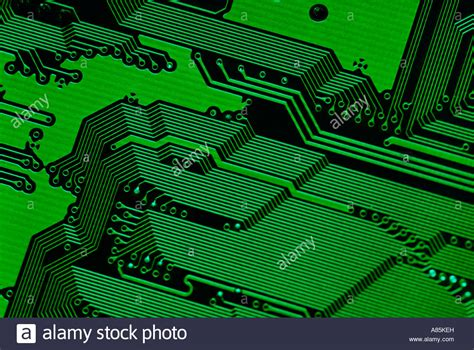 Motherboard Background Motherboard Technology Green Background Abstract Stock