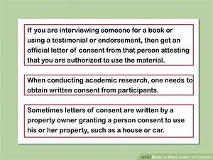 How to Write Letter of Consent (with Downloadable Sample ...
