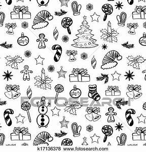 Weihnachtsmotive Schwarz Weiß : clip art weihnachten doodles seamless schwarz wei 2 k17136378 suche clipart poster ~ Buech-reservation.com Haus und Dekorationen