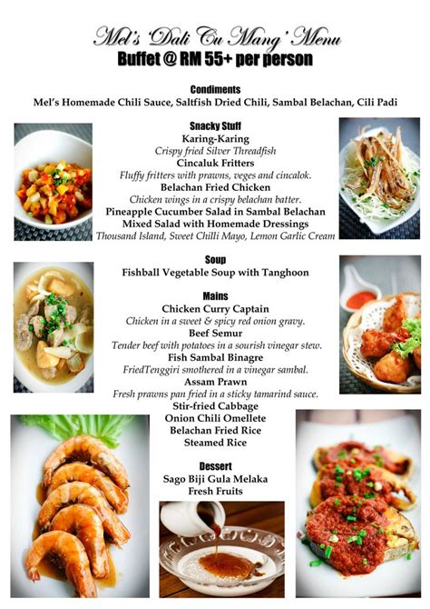 Sideboard Menu by Sle Buffet Menu Search Catering And