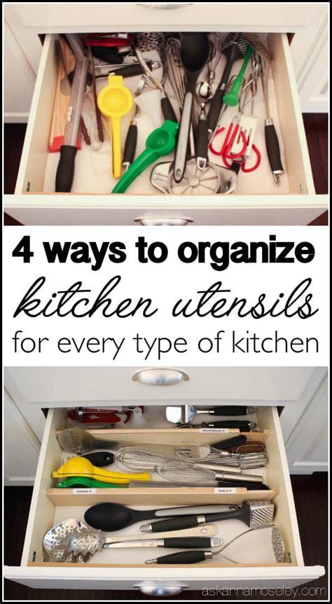 organize kitchen utensils   min    anna
