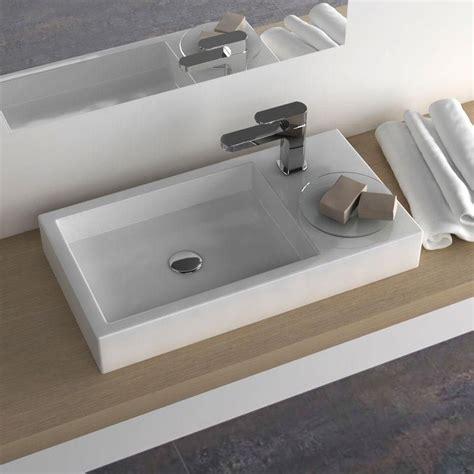 robinet vasque a poser vasque 224 poser rectangulaire 66x35 cm plage robinet c 233 ramique