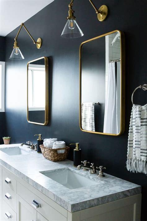 stylish blue  gold bathroom decor ideas digsdigs