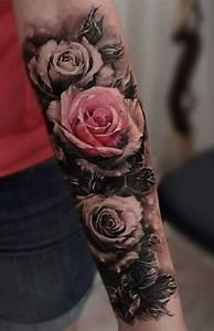 Rosen Tattoos Schwarz : 150 coole tattoos f r frauen und ihre bedeutung tattoo ideen ~ Frokenaadalensverden.com Haus und Dekorationen