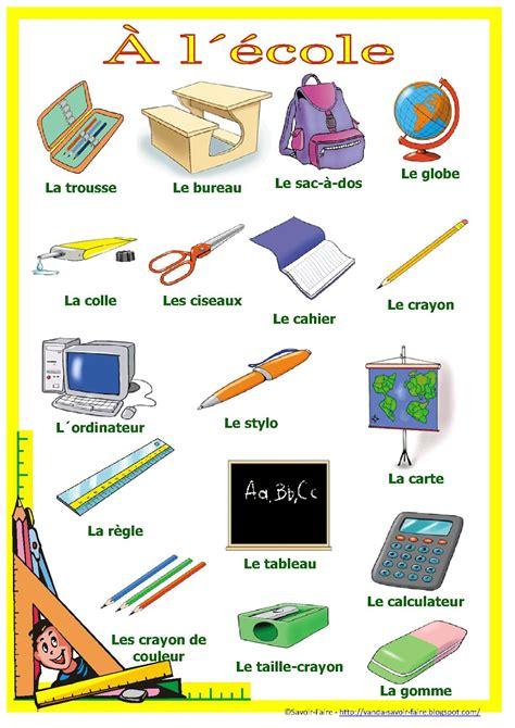 vocabulaire de la chambre français pour mes élèves materiel scolaire