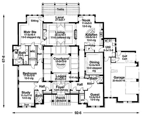 mediterranean courtyard house plans courtyard house plans mediterranean house plans house plans