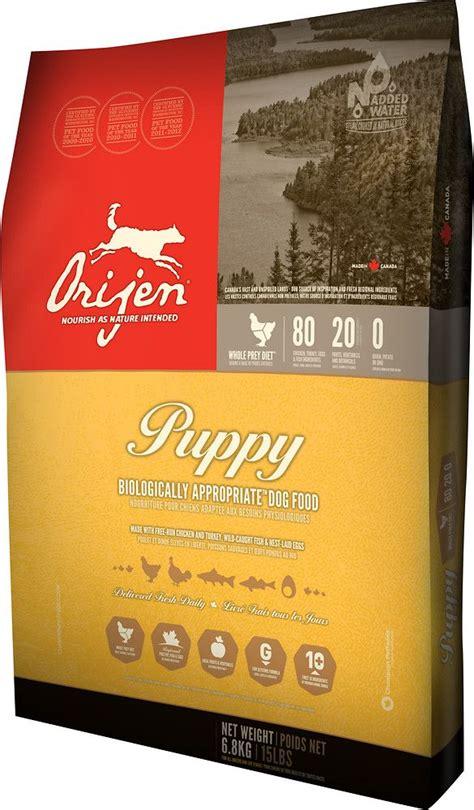 orijen puppy grain  dry dog food supposed