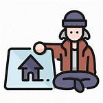 Homeless Icon Person Cartoon Sit Icons Vectorified