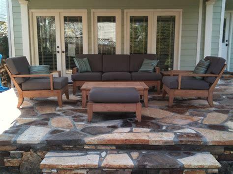 pc large teak wood garden indoor outdoor patio sofa set