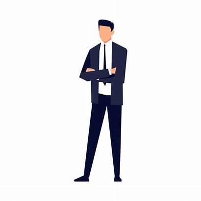 Businessman Salesman Vector Background Isolated Flat Illustration