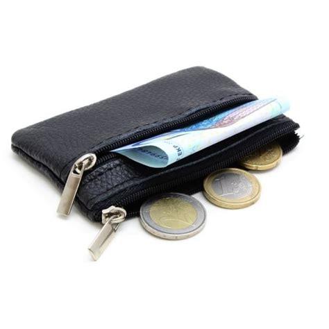 porte monnaie homme femme en v 233 ritable cuir noir noir achat vente porte monnaie