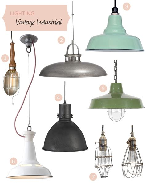 vintage industrial lighting it lovely