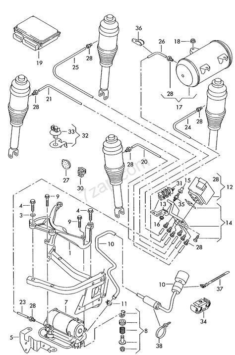 2005 Audi A8 Wiring Diagram by Air Supply Unit Connecting Parts For Self Level Audi