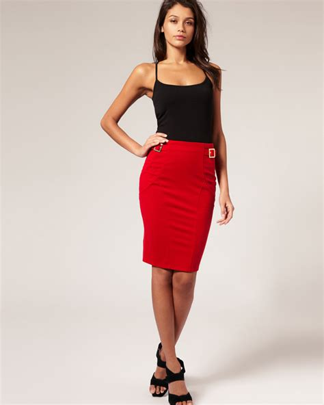 Top 10 Red Pencil Skirt Outfit Cheap Red Skirt | 2016