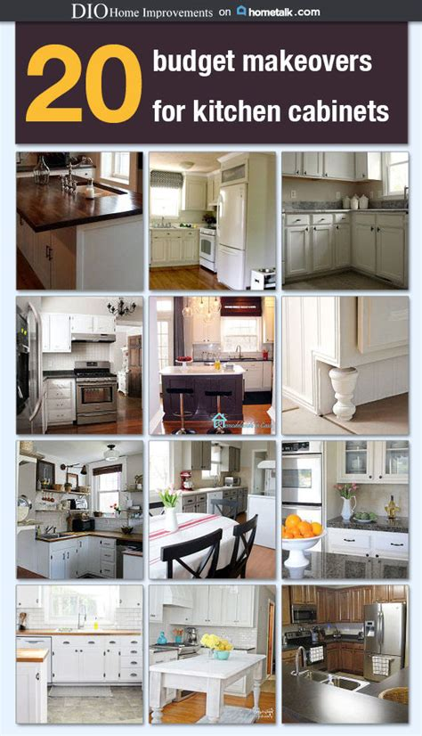 diy kitchen cabinets less than 250 dio home improvements 20 budget kitchen cabinet makeovers dio home improvements