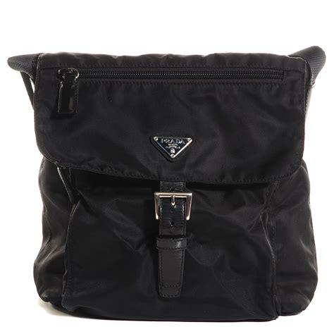 button prada prada vela messenger bag nero black 85532