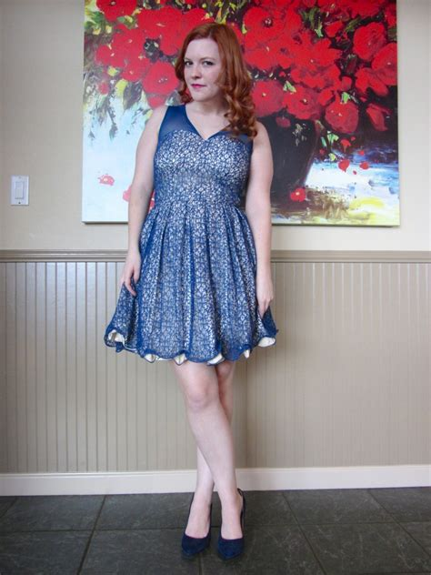 ootd blue gold dress navy heels  amber age