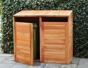 Tonne Aus Holz : g nstige ideen f r den au enbereich m lltonnenbox selber bauen ~ Watch28wear.com Haus und Dekorationen
