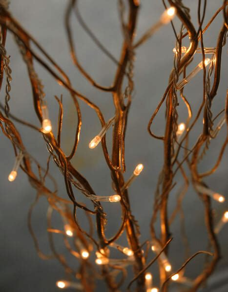 lit branches lighted gold willow branches 39in