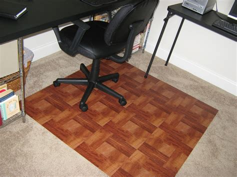 Desk Chair Mat For Carpet Staples by It Frugal Diy Quot Wooden Quot Office Chair Mat