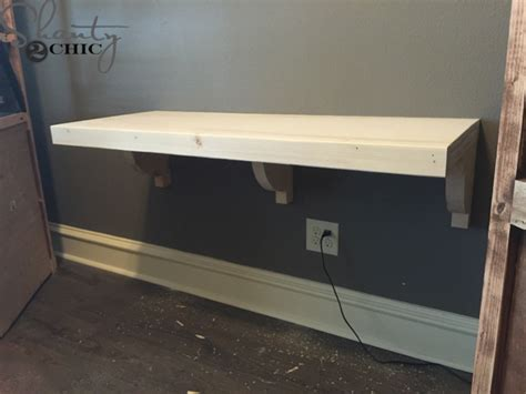 floating office desk diy floating desk for office towers shanty 2 chic