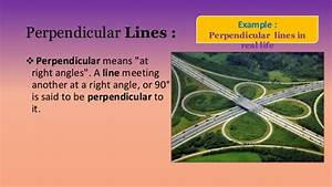 Parallel And Perpendicular With Real Life Examples