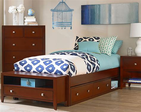 Pulse Cherry Full Platform Bed With Storage From Ne Kids
